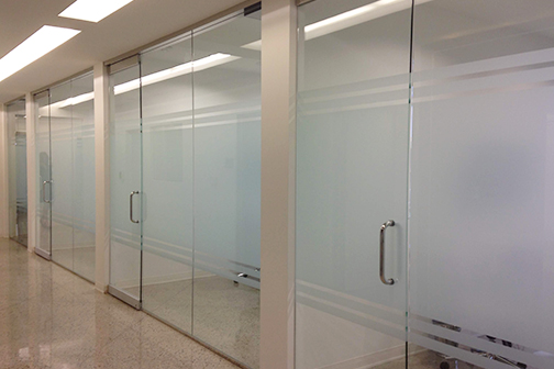 Thumb Frosted Glass in a office