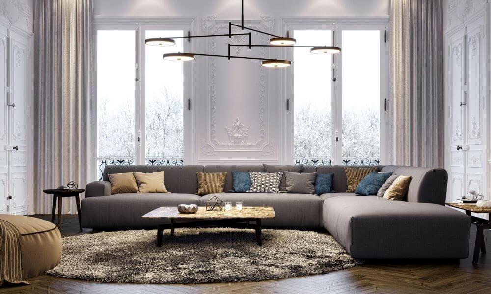 Living room window treatments ideas in Michigan